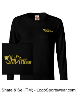 Pigment-Dyed Ladies Long Sleeve T-shirt Design Zoom