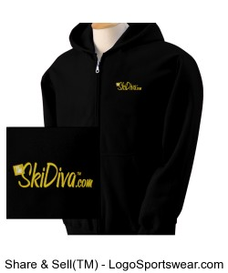 Gildan Heavy Blend Ladies Full Zip Hooded Sweatshirt Design Zoom