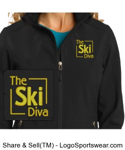 Ladies Core Soft Shell Jacket Design Zoom