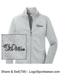 Ladies Sweater Fleece Jacket Design Zoom
