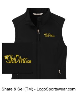 TheSkiDiva Core Soft Shell Vest Design Zoom