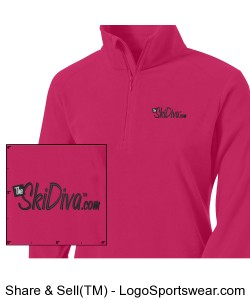 TheSkiDiva Columbia 1/2-Zip Pullover Design Zoom