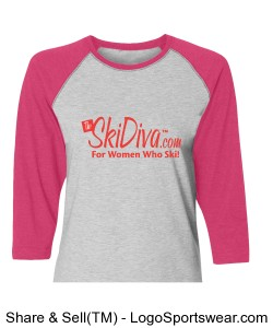 TheSkiDiva Vintage Baseball T-Shirt Design Zoom