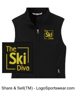 Ladies Core Soft Shell Vest Design Zoom