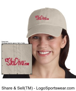 TheSkiDiva Garment-Dyed Cap Design Zoom