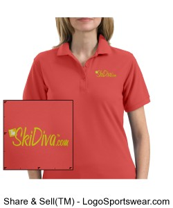 TheSkiDiva Silk Touch Sport Shirt. Design Zoom